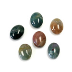 Gemstone Cabochon - Oval 10x8MM FANCY JASPER
