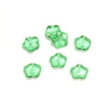 Czech Pressed Glass Bead - Star 08MM PERIDOT