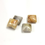 Gemstone Cabochon - Square 08x8MM MEXICAN CRAZY LACE