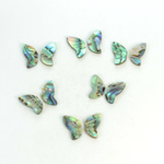 Shell Flat Back Stone - Butterfly Wings 09x5.5MM ABALONE
