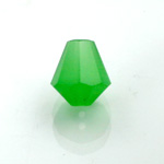 Chinese Cut Crystal Bead - Cone 06x5MM OPAL GREEN