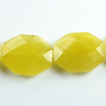 Gemstone Bead - Faceted Octagon 25x20MM Dyed QUARTZ Col. 41 OLIVE