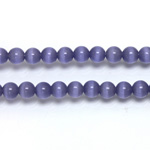 Fiber-Optic Synthetic Bead - Cat's Eye Smooth Round 05MM CAT'S EYE TANZANITE