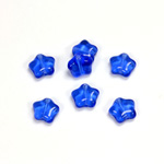 Czech Pressed Glass Bead - Star 08MM SAPPHIRE