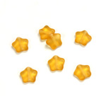 Czech Pressed Glass Bead - Star 08MM MATTE TOPAZ