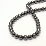 Manmade Bead - Smooth Round 08MM HEMATINE