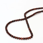 Gemstone Bead - Smooth Round 04MM TIGEREYE RED