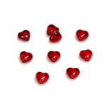 Czech Pressed Glass Bead - Smooth Heart 06x6MM RUBY