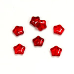 Czech Pressed Glass Bead - Star 08MM RUBY