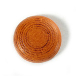 Plastic Flat Back Engraved Cabochon - Round 29MM INDOCHINE LIGHT BROWN