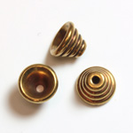 Brass Machine Made Bead Cap Beehive 05.2MM RAW BRASS Lead Safe