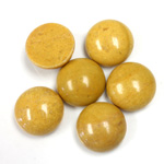 Gemstone Cabochon - Round 13MM YELLOW JASPER