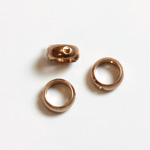 Brass Bead Frames - Rings Side Drilled 2-Holes 06MM