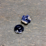 Gemstone Flower Carved Round with Center Hole 08MM SODALITE
