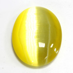 Fiber-Optic Cabochon - Oval 40x30MM CAT'S EYE YELLOW