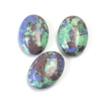 Synthetic Cabochon - Oval 18x13MM Matrix SX11 GREEN-BLUE-BROWN