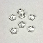 Czech Pressed Glass Bead - Star 08MM CRYSTAL