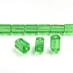 Glass Bead Table Polished - 08x4MM PERIDOT