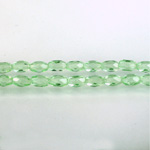 Czech Glass Fire Polish Bead - Oval 06x4MM LT EMERALD