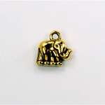 Metalized Plastic Pendant- Elephant 13MM ANT GOLD