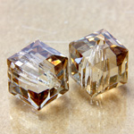 Preciosa Crystal Bead - Square 08MM HONEY
