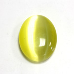 Fiber-Optic Cabochon - Oval 30x22MM CAT'S EYE YELLOW