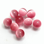 Fiber-Optic No-Hole Ball - 10MM CAT'S EYE LT PINK