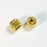 Brass Corrugated Bead - Standard Bicone 08MM RAW