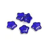 Czech Pressed Glass Bead - Star 12MM COBALT