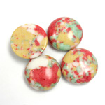 Synthetic Cabochon - Round 15MM Matrix SX01 RED-YELLOW-GREEN