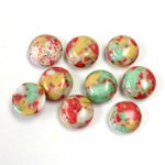 Synthetic Cabochon - Round 09MM Matrix SX01 RED-YELLOW-GREEN