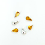 Plastic Point Back Foiled Stone - Pear 08x4.8MM TOPAZ