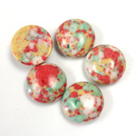 Synthetic Cabochon - Round 13MM Matrix SX01 RED-YELLOW-GREEN