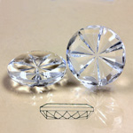 Glass Flat Back Pinwheel Round 18MM CRYSTAL