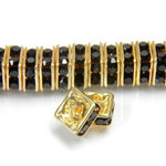 Czech Rhinestone Rondelle - Square 06MM JET-GOLD