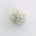 Rhinestone Ball 16MM CRYSTAL-SILVER