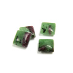 Gemstone Cabochon - Square 08x8MM ZOISITE RUBY