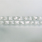 Czech Glass Fire Polish Bead - Oval 06x4MM CRYSTAL