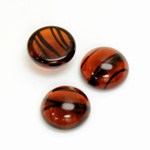 Glass Medium Dome Cabochon - Round 15MM TORTOISE