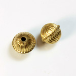 Brass Corrugated Bead - Standard Saucer 12x10MM RAW