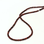 Gemstone Bead - Smooth Round 03MM TIGEREYE RED