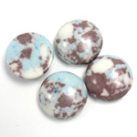 Synthetic Cabochon - Round 15MM Matrix SX07 BROWN-TURQUOISE