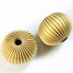 Brass Corrugated Bead - Fancy Dimpled Rondelle 22x17MM RAW
