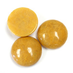 Gemstone Cabochon - Round 18MM YELLOW JASPER