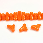 Czech Pressed Glass Bead -Tri-Y 11x9MM TANGERINE