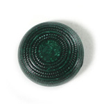 Plastic Flat Back Engraved Cabochon - Round 29MM INDOCHINE TEAL