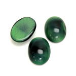 Glass Medium Dome Cabochon - Oval 18x13MM PEARL GREEN SPINEL