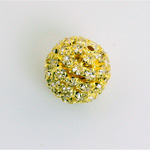Rhinestone Ball 16MM CRYSTAL-GOLD