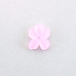 German Plastic Flower with Center Hole - 15x12MM MATTE ROSE