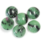 Gemstone Cabochon - Round 13MM ZOISITE RUBY